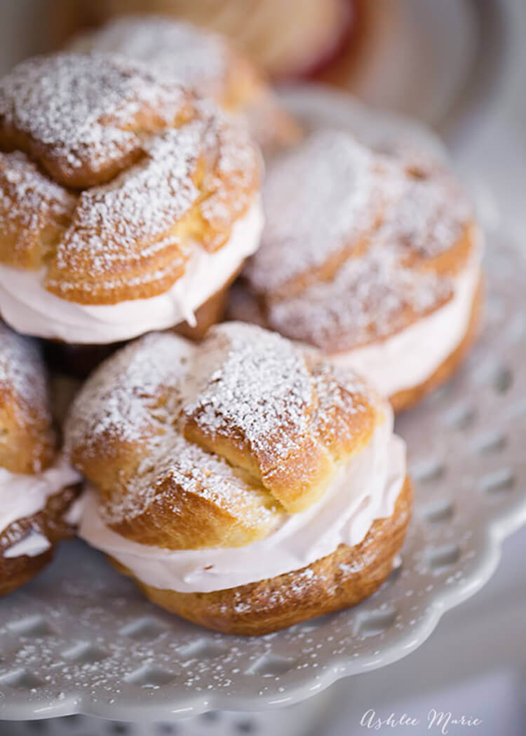 Raspberry filled cream puffs from Ashlee Marie