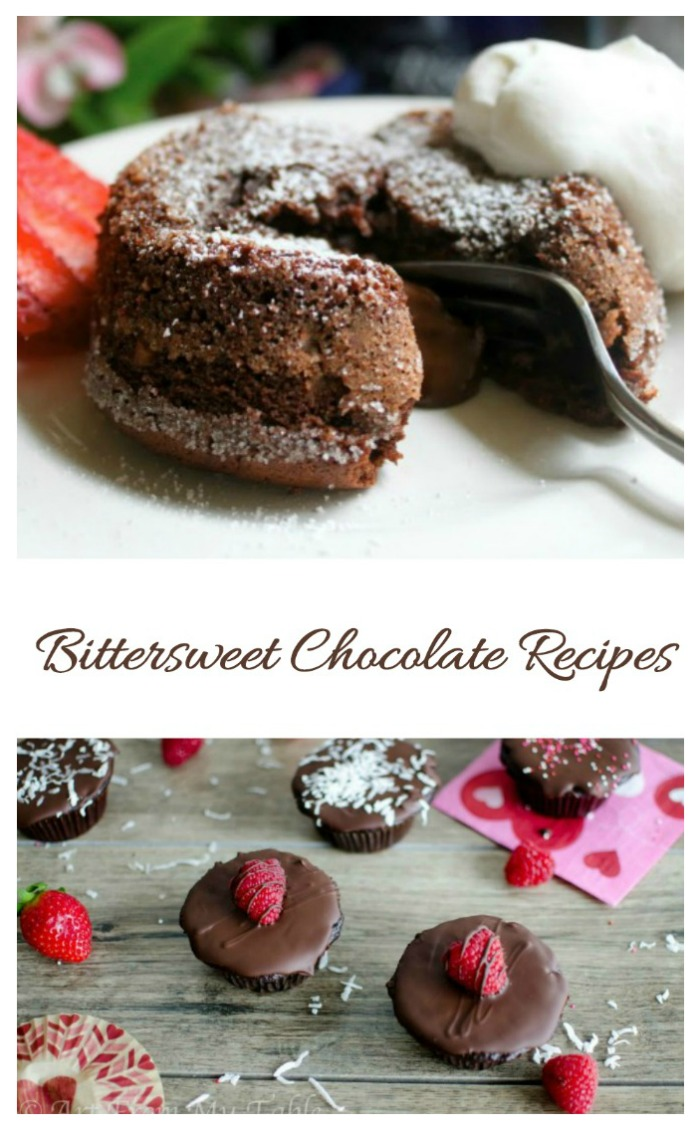 If you love the taste of deep dark chocolate, try these bittersweet chocolate recipes.