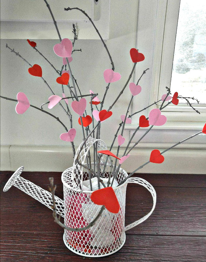 Finished Valentine's Day heart tree