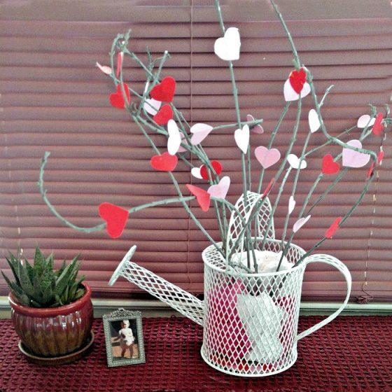Valentine's Day heart tree makes great seasonal decor