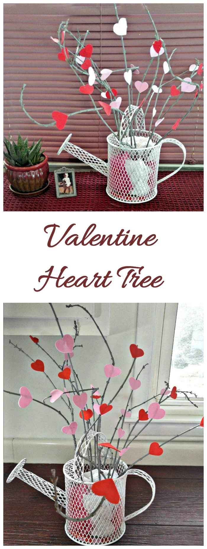 This Valentine heart tree is easy to make and looks lovely on any mantle.