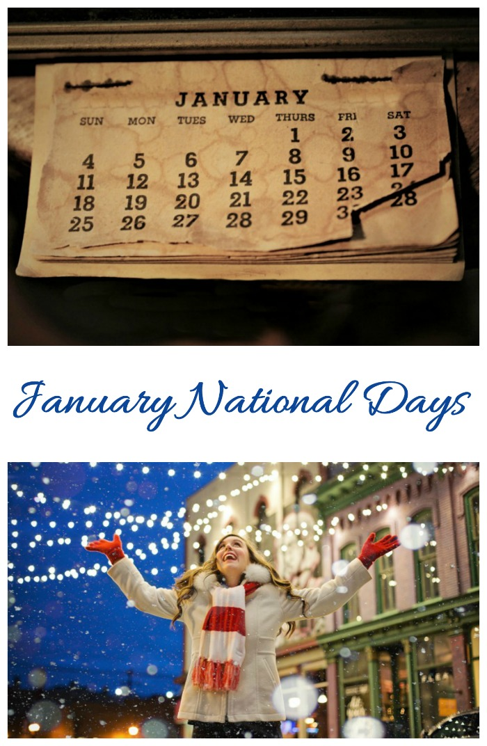The National days of January focus on comfort food, resolutions and organization. See the whole list on Always The Holidays