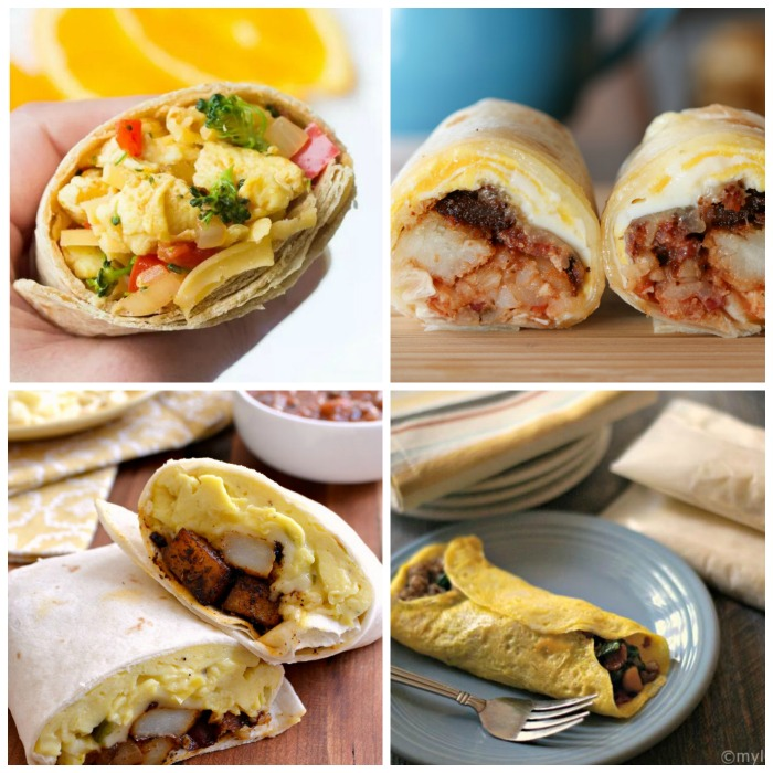 Try one of these breakfast burritos for a handy and quick breakfast on the go