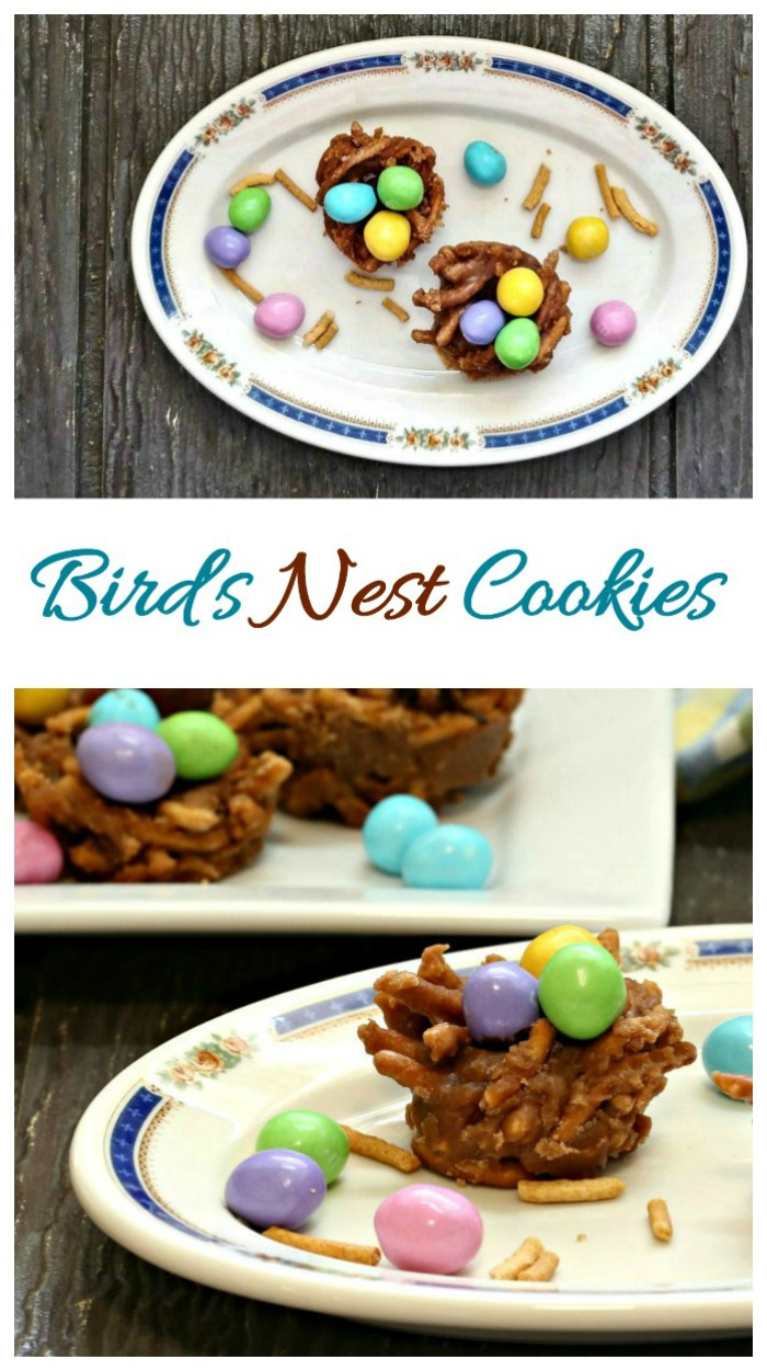 These bird's nest cookies are a perfect spring time treat that are easy to make. No bake and ready in just minutes.