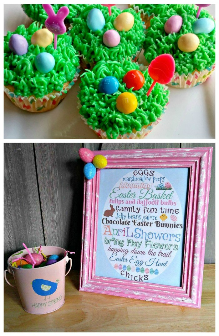 Easter egg cupcakes and Easter Printable