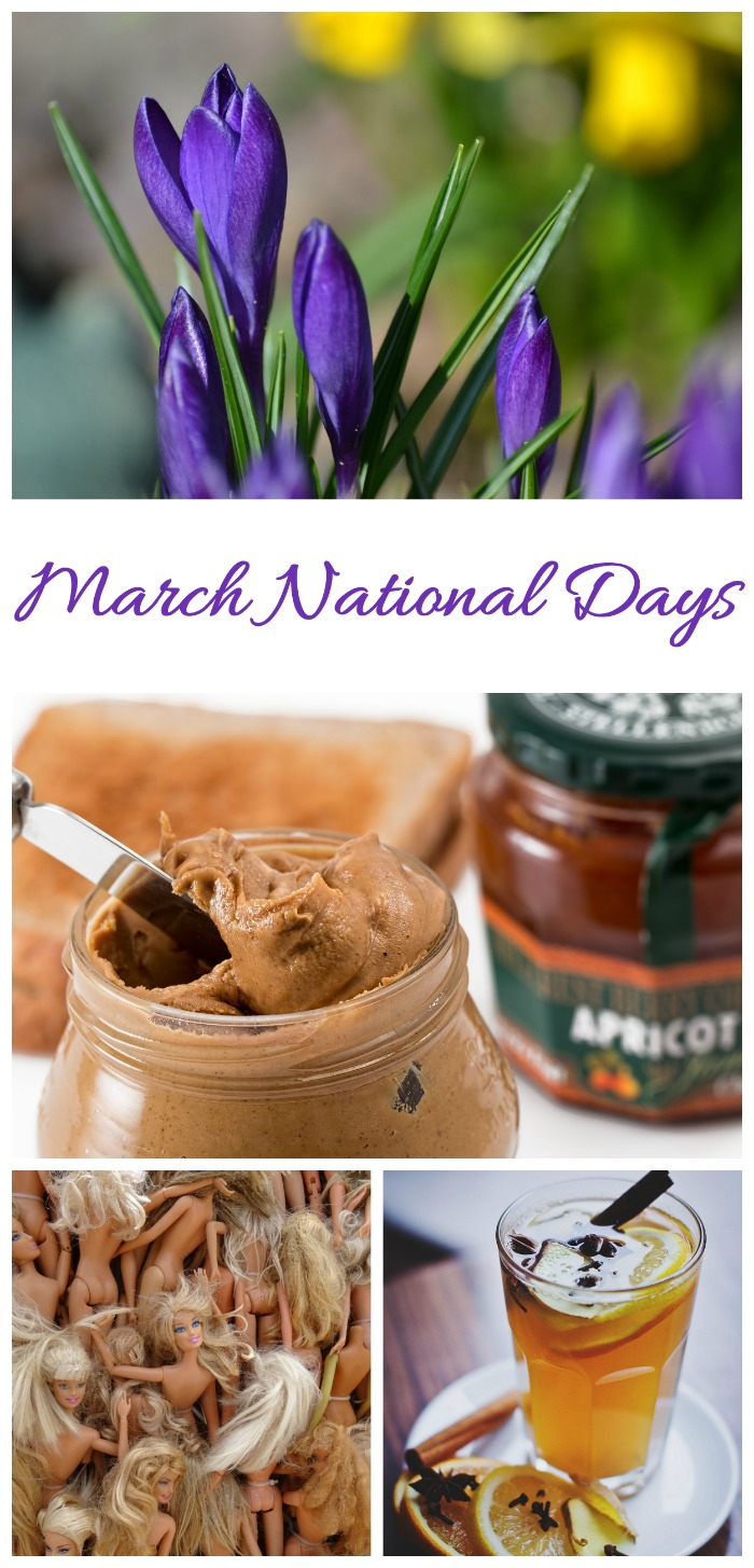 There are lots of fun national days to celebrate in March. Check them all out at Always the Holidays