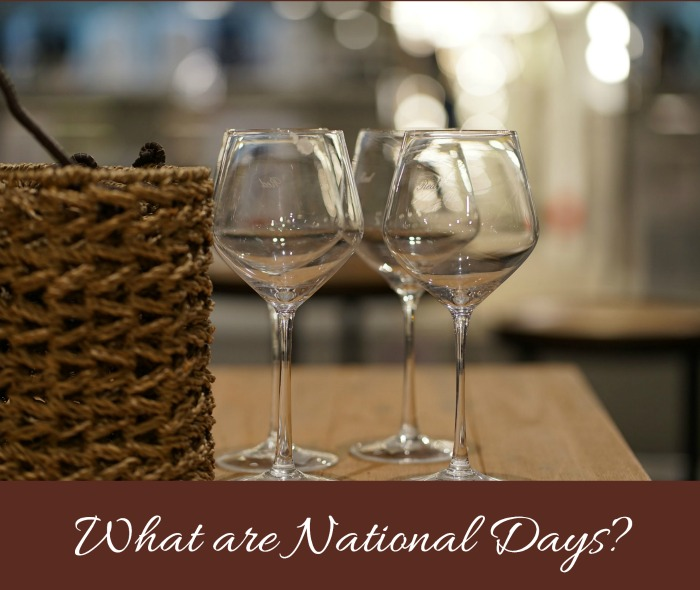 What are national days?
