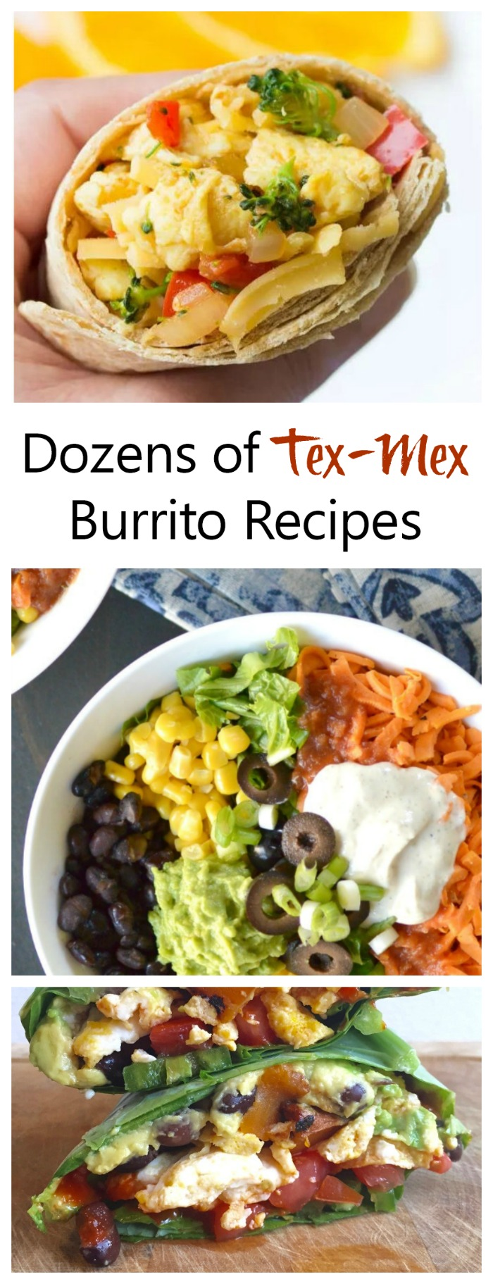 Dozens of Tex Mex Burritos recipes for easy and tasty dinner planning.
