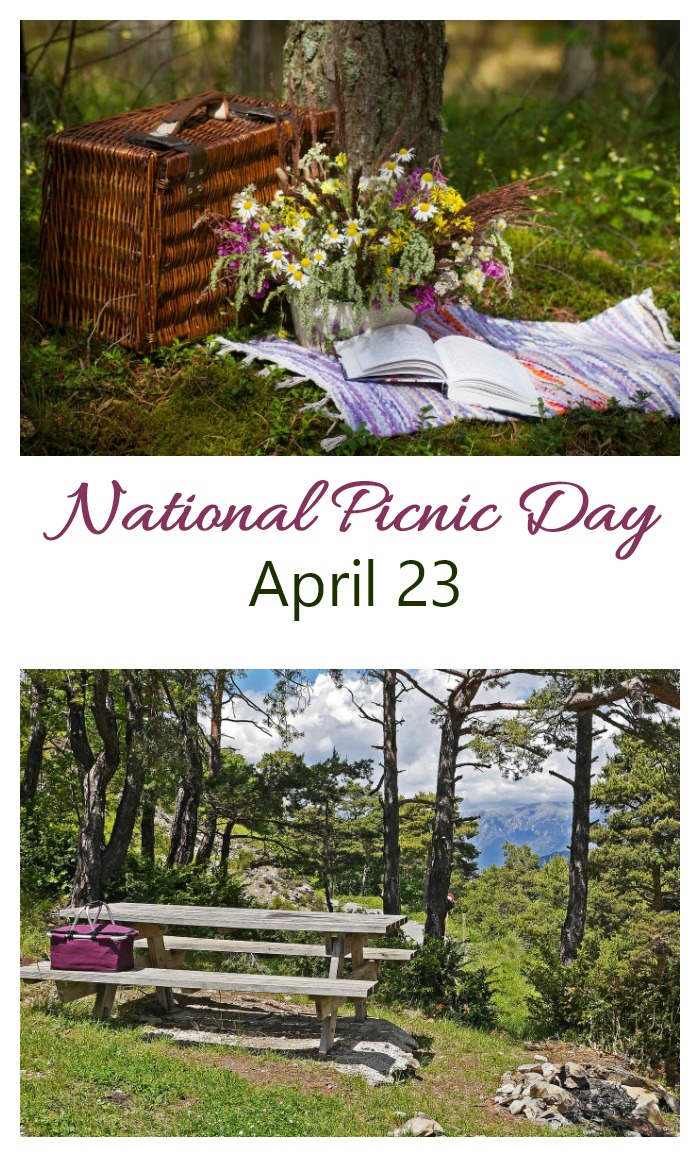April 23 is National Picnic Day. Find out about the origins of picnics and get some ideas for things to take on a picnic.