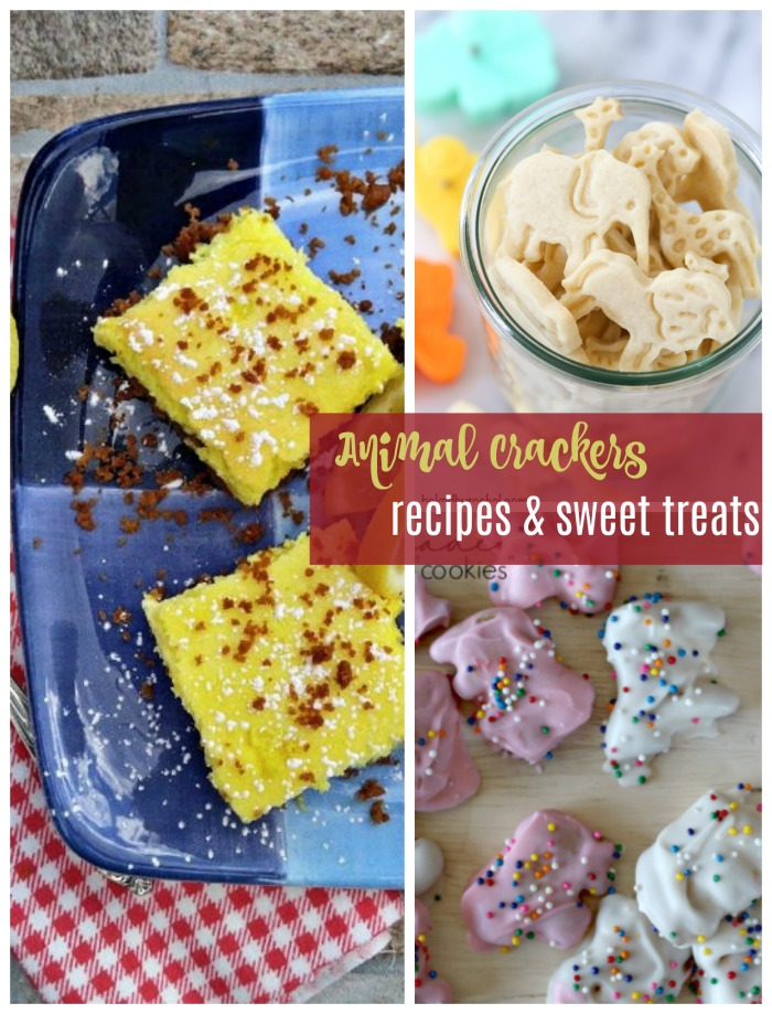 Animal Cracker Recipes - Lemon bars, shortbread cookies and homemade animal crackers with icing