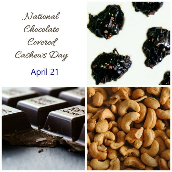 National Chocolate covered Cashews Day