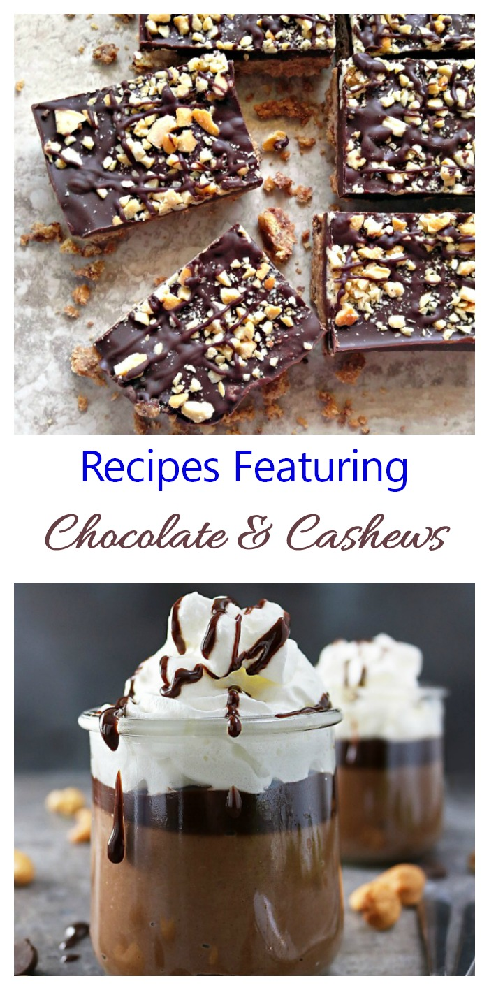 These recipes feature cashews and chocolate as the stars.
