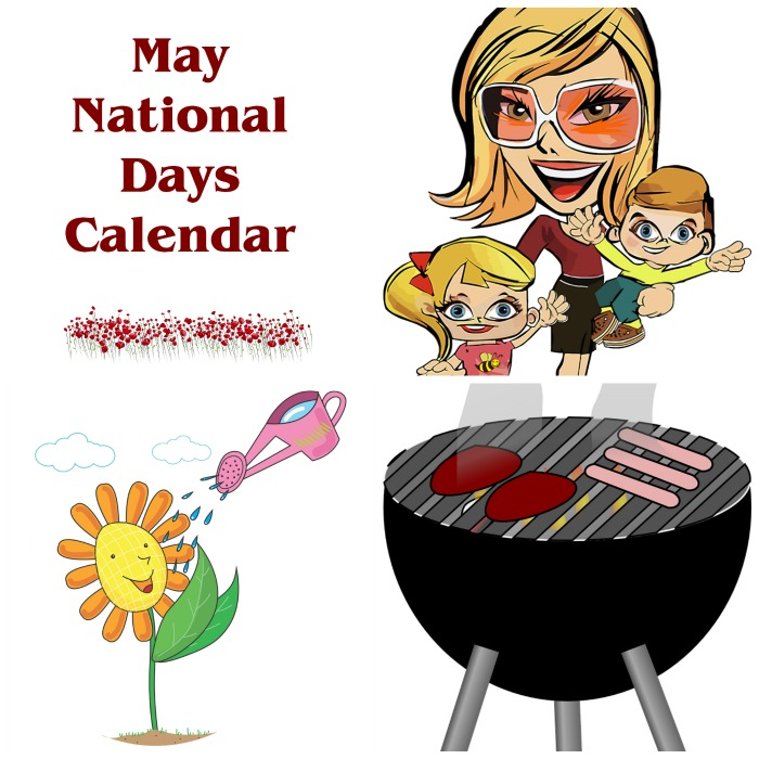 May printable calendar for national days