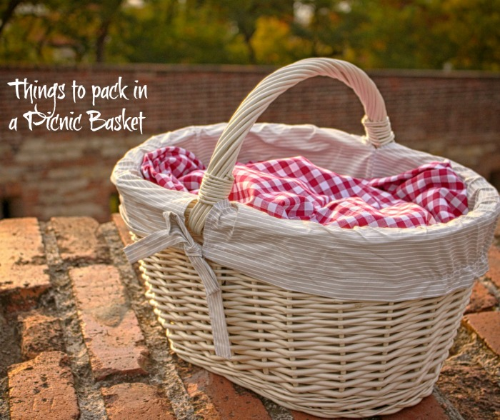 Things to pack in a picnic basket