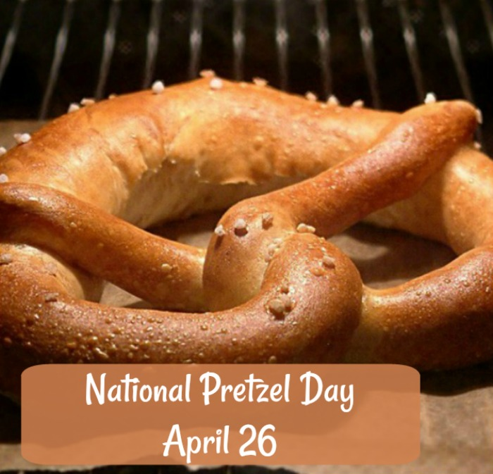 April 26 is National Pretzel Day. click through to get some fun facts and pretzel recipes.