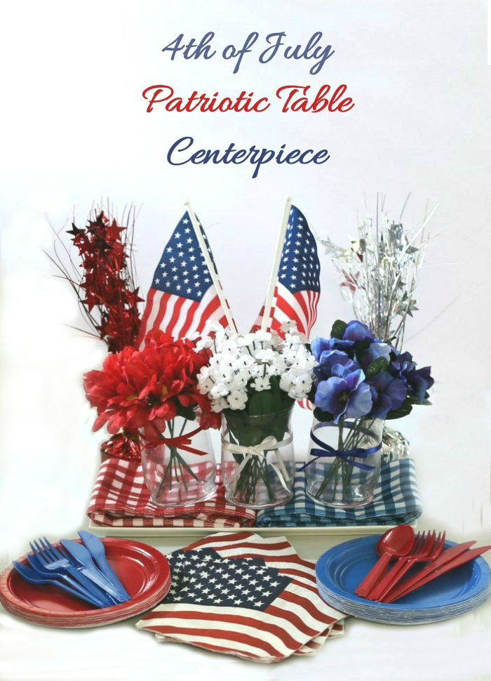 4th of July Patriotic table decorations