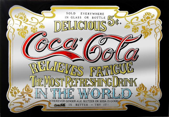 Early advertisement for Coca Cola.