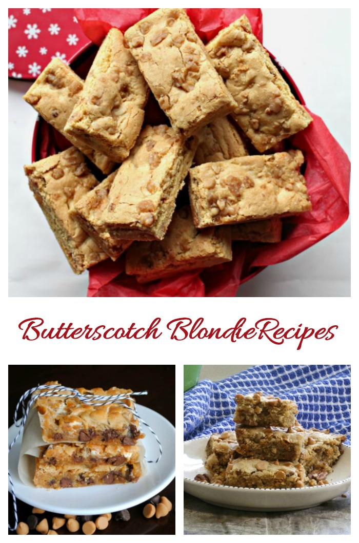 Make a batch of blondies to celebrate National Butterscotch Brownie Day