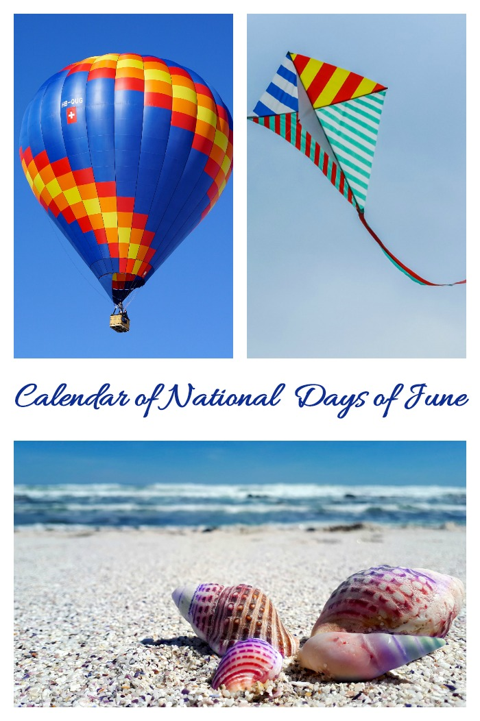 This calendar of National Days of June show just how much the outdoors comes into play this month