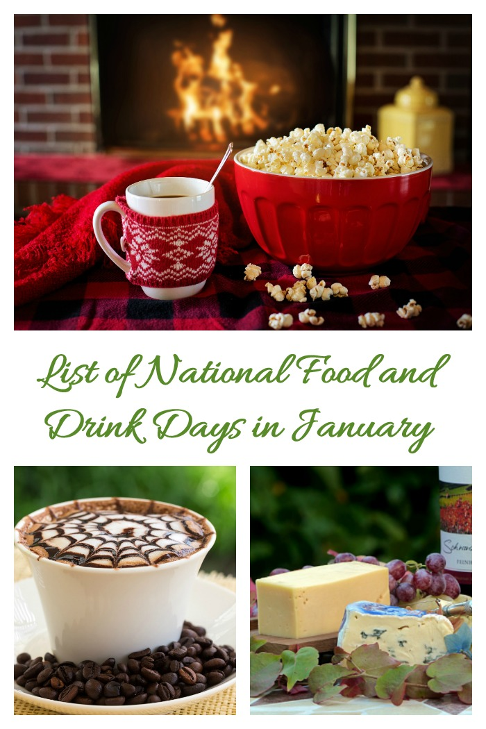 Calendar of January National food and Drink days