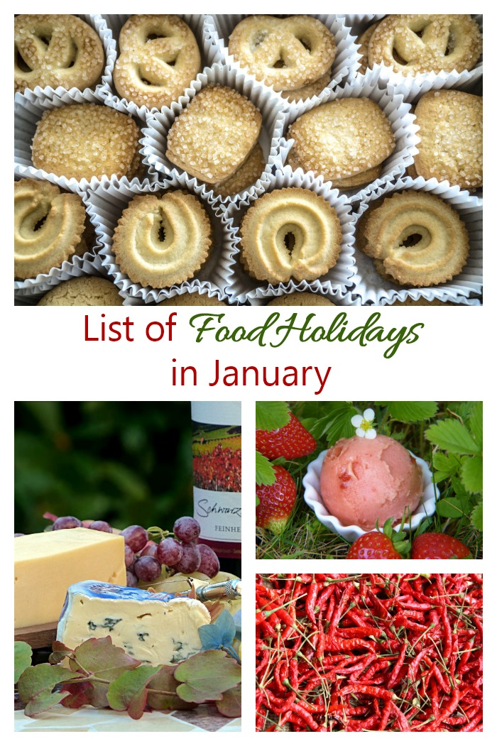 This list of food days in January has over 50 days of the month devoted to food and drink. Check it out to help with planning your meals.