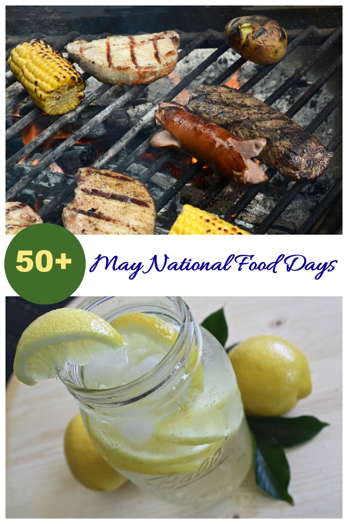 There are over 50 May National Food Days and many of them feature outdoor entertaining.