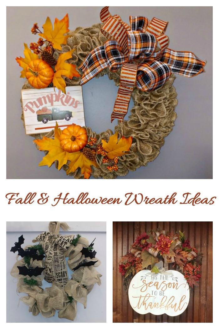 These fall and Halloween wreath ideas will give you lots of inspiration for your fall decorating projects