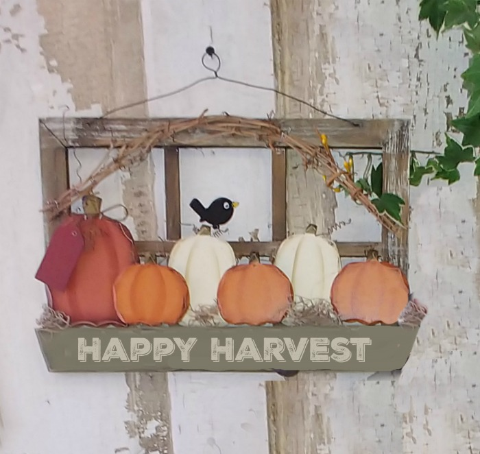 Happy harvest wood hanging