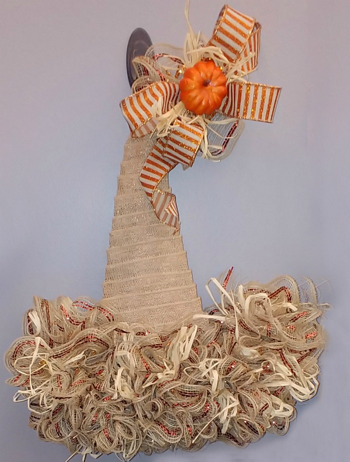 Fabric Witch Hat Door hanger