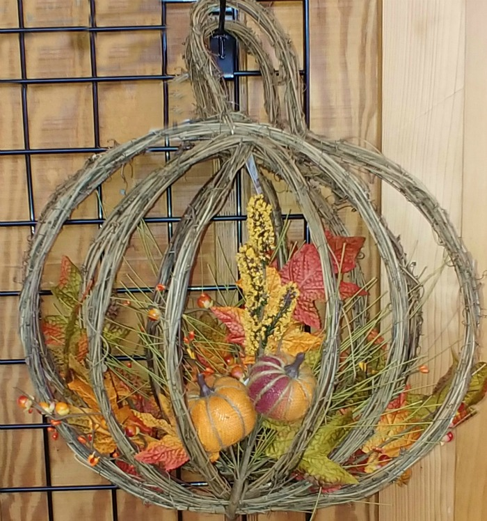 Grape vine cage wreath