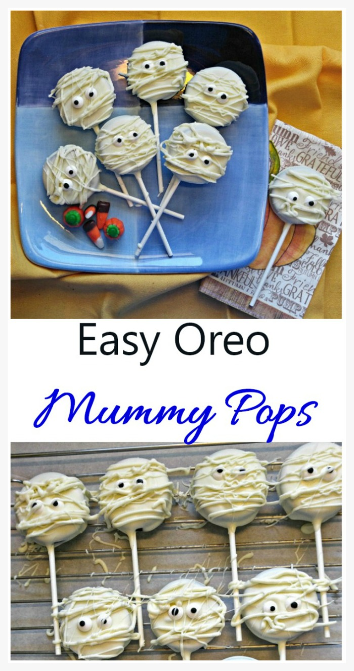Mummy cake pops made from Oreo cookies