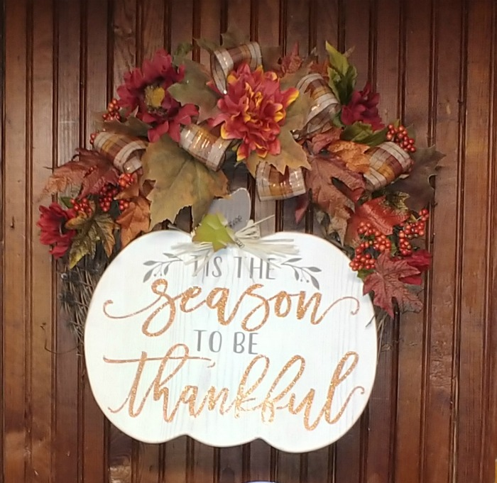 Thankful Thanksgiving Wreath