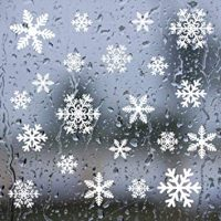 YSBER 5pcs Snowflake Window Clings Decals - Christmas Glass Static Stickers - for Holiday Winter Decoration Supplies