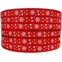 Christmas Pattern Printed Grosgrain Ribbons (2)