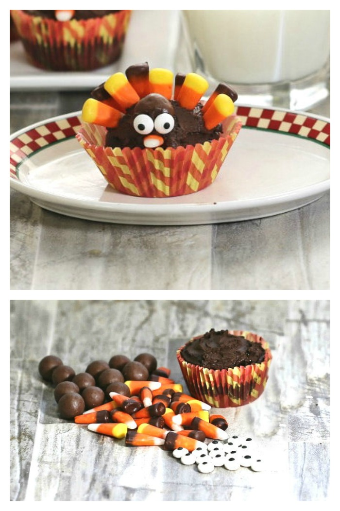 These candy corn turkey cupcakes are simple to make and so much fun for the kids