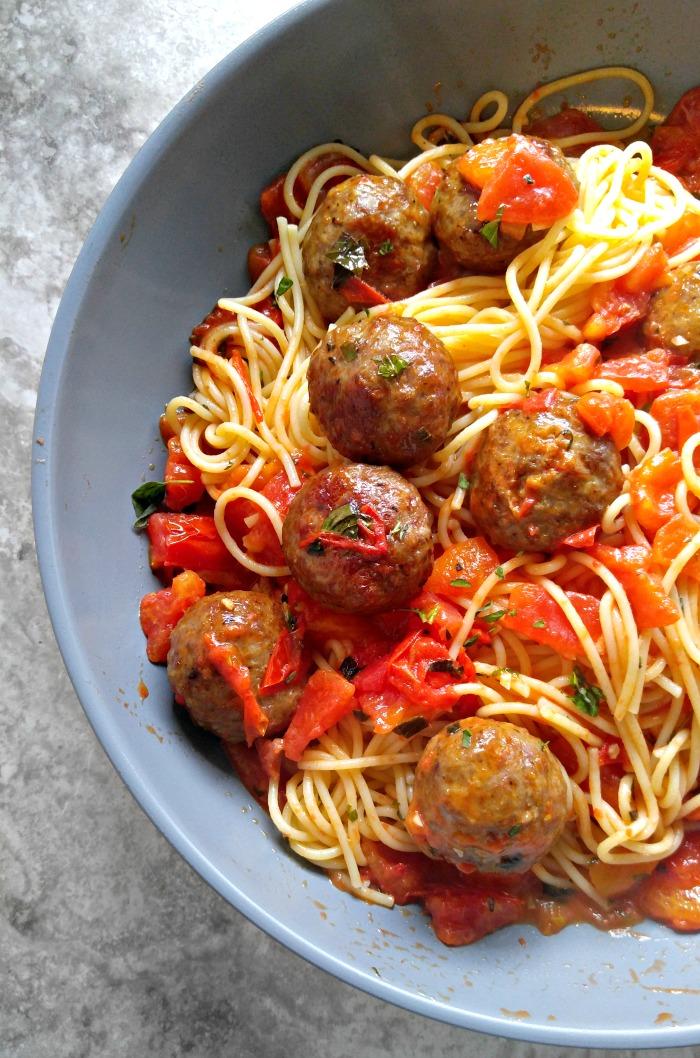 Abruzzese meatballs and spaghetti