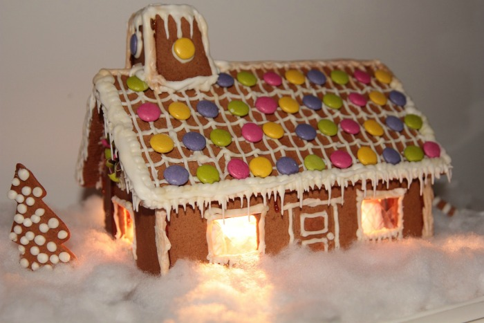 Gingerbread house with chimney