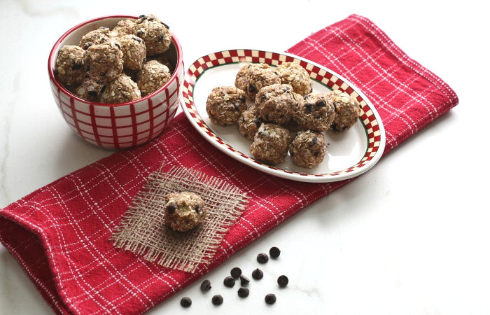 No Bake Peanut Butter Balls with Chocolate & Coconut – 3 WW Points