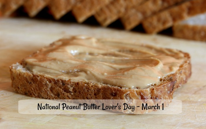 National peanut butter lover's day is March 4