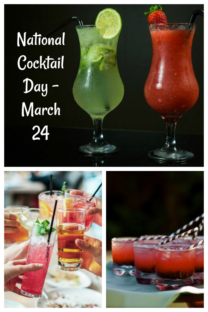 National Cocktail day is March 24. Click through to get some fun facts and new cocktail recipes.