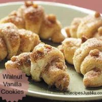 Walnut Vanilla Cresent Roll Cookies