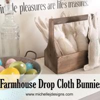 Drop Cloth Farmhouse Bunnies