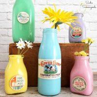 Creating a Milk Bottle Vase with Vintage Milk Caps