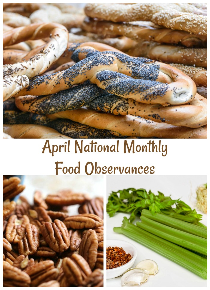 April is the first month of spring and it also celebrates several foods.