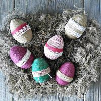 Rope Wrapped Eggs – Farmhouse Easter Decor Project
