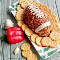 Football Cheese Ball – Easy, Spicy and Fun!