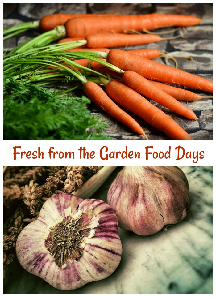 April is a month of fresh from the garden days to celebrate food.