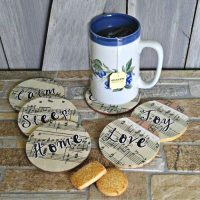 DIY Music Sheet Coasters – Perfect for That Special Cup of Tea