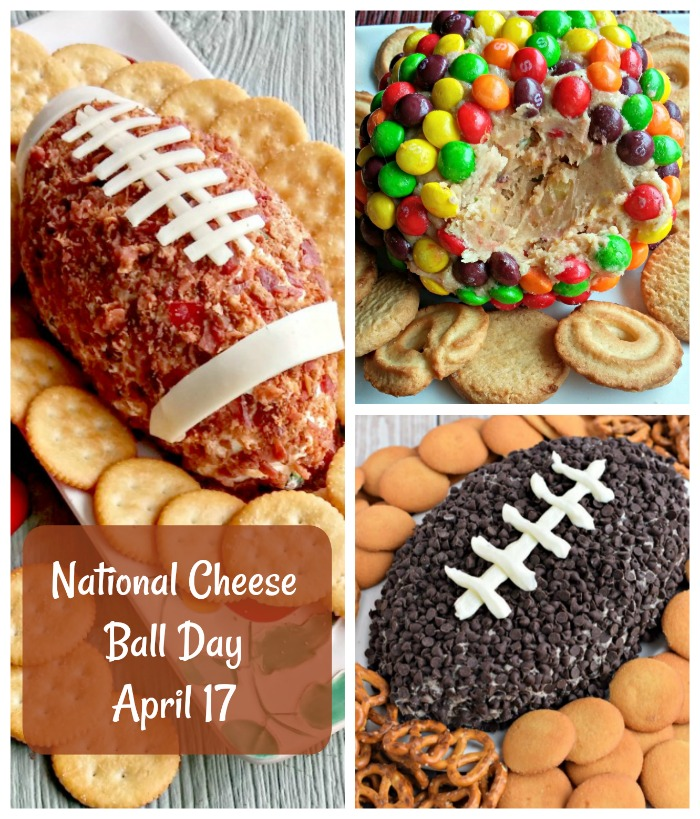 National Cheese Ball day is celebrated on April 17