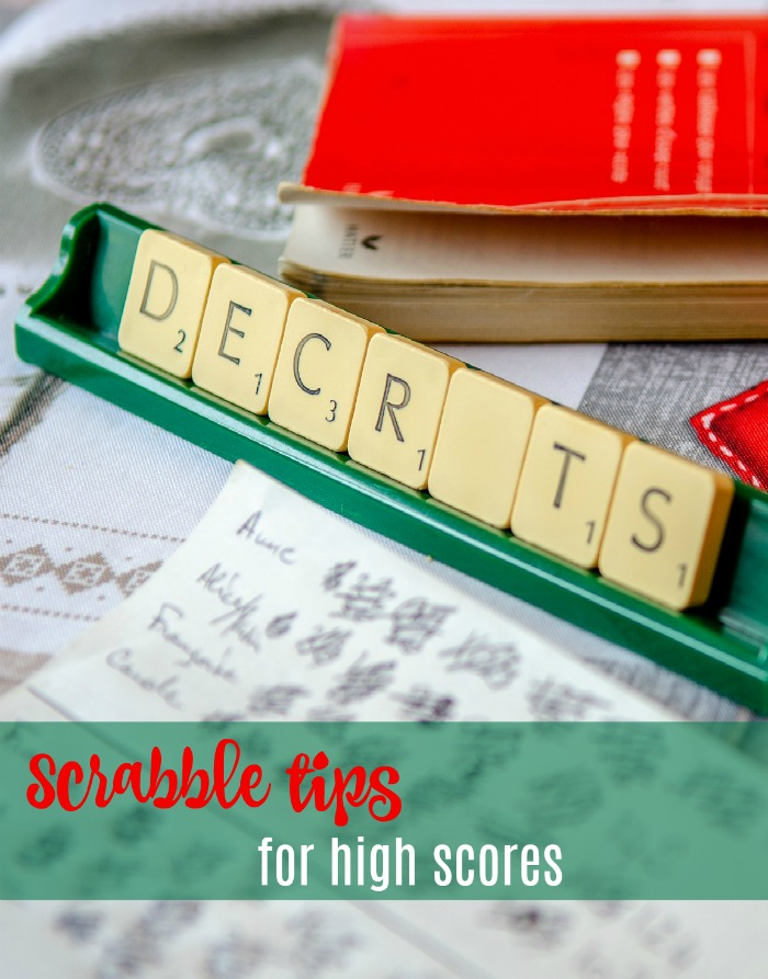 Tips for getting high scores in Scrabble